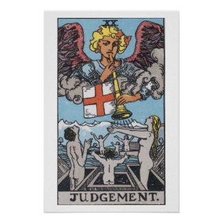 Judgement Judgment Tarot Card Poster