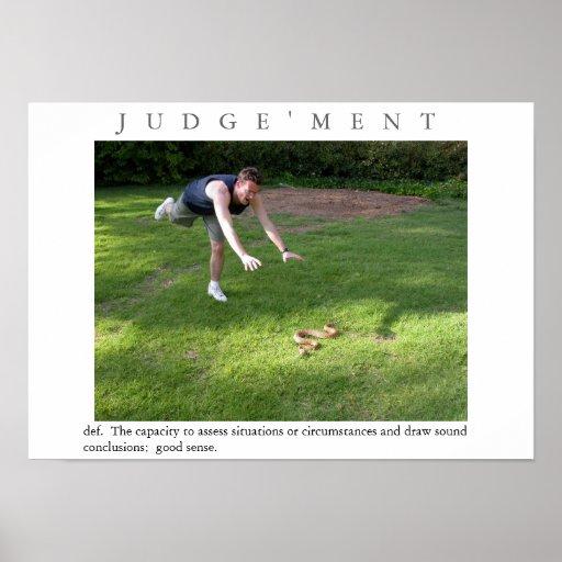 JUDGEMENT Motivational Snake Poster Print