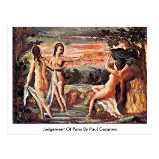 Judgement Of Paris By Paul Cezanne Postcard