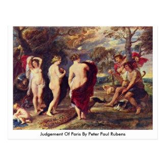 Judgement Of Paris By Peter Paul Rubens Postcard