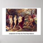 Judgement Of Paris By Peter Paul Rubens Poster
