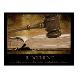 Judgement Poster