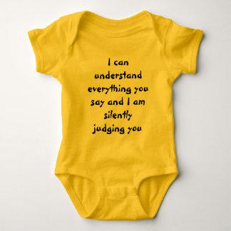 judgemental baby baby bodysuit
