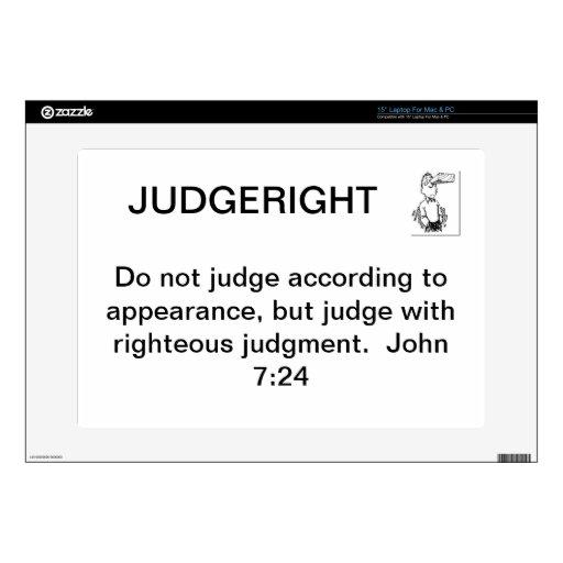 JudgeRight Laptop Skin