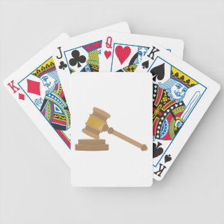 Judges Gavel Bicycle Playing Cards