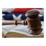 Judge's gavel - Legal business card template