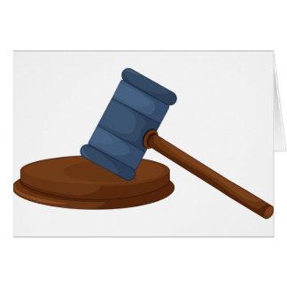Judges Gavel Note Cards