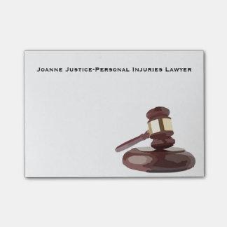 Judge's Gavel Post-It Notes