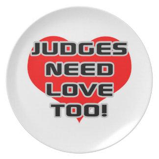 Judges Need Love Too Dinner Plate