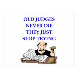 JUDGES POSTCARD