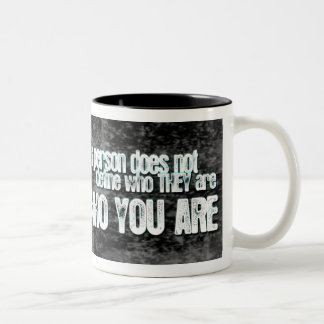 Judging Defines Who You Are Two-Tone Coffee Mug