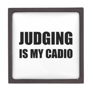 Judging Is My Cardio Jewelry Box