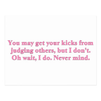 Judging others postcard