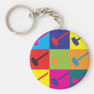 Judging Pop Art Basic Round Button Keychain