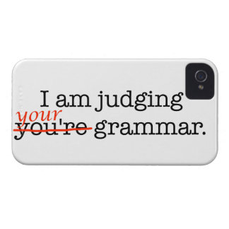 Judging Your Grammar iPhone 4 Covers