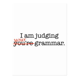 Judging Your Grammar Postcard