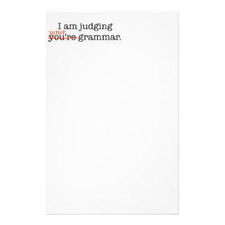 Judging Your Grammar Stationery