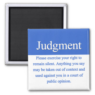 Judgment 2 Inch Square Magnet