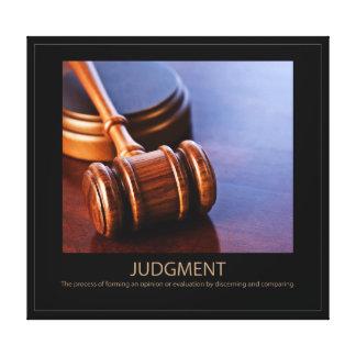 Judgment Canvas Print