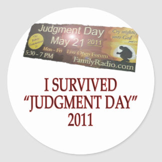 JUDGMENT copy Classic Round Sticker