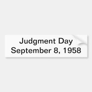 judgment day car bumper sticker