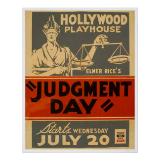 Judgment Day Mayan 1938 WPA Poster