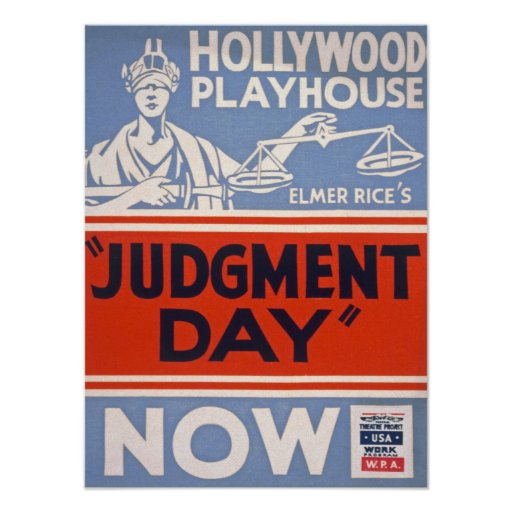 Judgment Day Vintage Poster