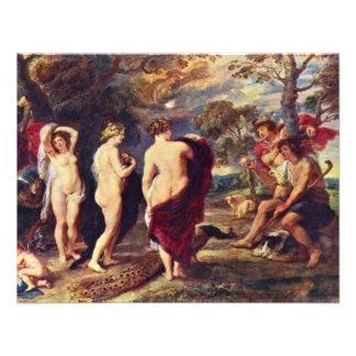 Judgment Of Paris By Rubens Peter Paul Custom Announcements