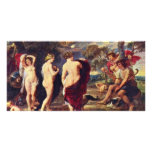 Judgment Of Paris By Rubens Peter Paul Photo Card