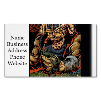 judgment of the devil business card magnet