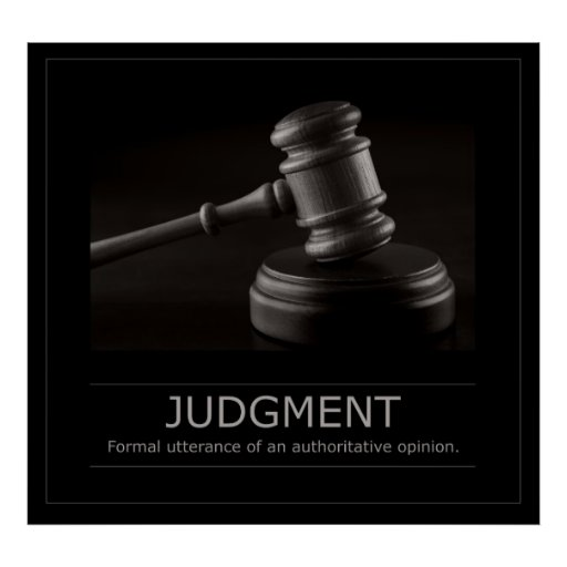Judgment Poster