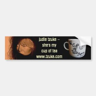 Judie Tzuke - Cup of Tea Song - Bumper Sticker Car Bumper Sticker