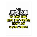 Judío… asuma que nunca soy incorrecto postales
