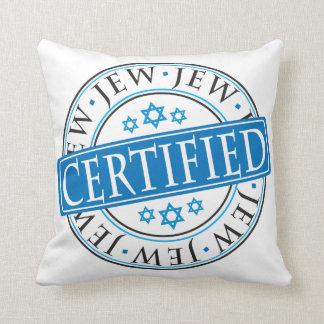 Judío certificado cojines