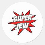 Judío estupendo etiqueta redonda