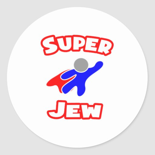 Judío estupendo etiquetas redondas