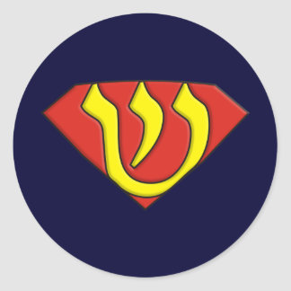 Judío estupendo pegatina redonda