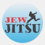 Judío Jitsu - humor judío divertido Pegatina Redonda