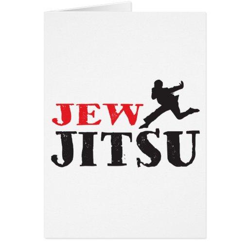 Judío Jitsu - humor judío divertido Tarjeta De Felicitación