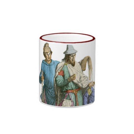 Judío y caballero medievales - trajes de período taza a dos colores