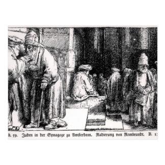 Judíos en la sinagoga en Amsterdam Tarjetas Postales