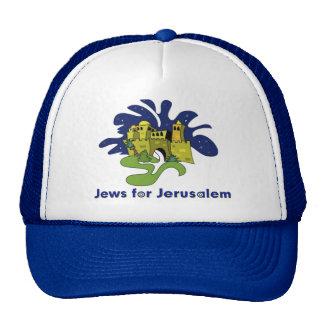 JUDÍOS JUDÍOS DEL GORRA PARA JERUSALÉN