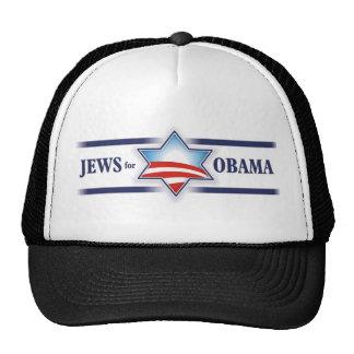 Judíos para el casquillo de Obama Gorro De Camionero