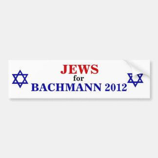 Judíos para el pegatina 2012 de Bachmann Pegatina Para Auto
