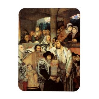 Judíos que ruegan por Maurycy Goettlieb - circa 18 Imán De Vinilo