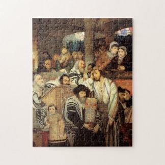 Judíos que ruegan por Maurycy Goettlieb - circa 18 Puzzle