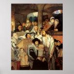 Judíos que ruegan por Maurycy Gottlieb - circa 187 Poster