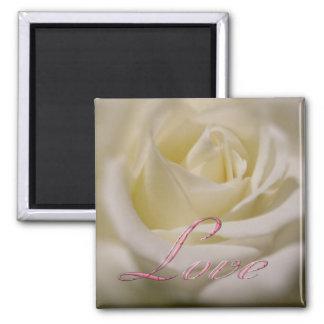 Judi's Rose - Love 2 Inch Square Magnet