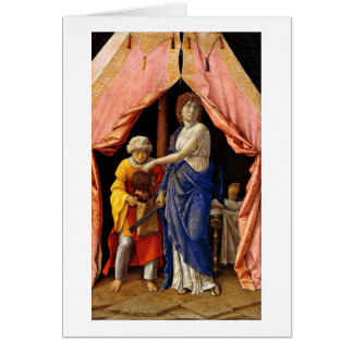 Judith And Holofernes By Andrea Mantegna Greeting Card