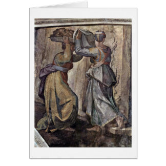Judith And Holofernes By Michelangelo Buonarroti Greeting Card